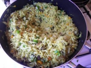 A recipe for nigerian fried rice my woven words stir for 1 2 minutes then add the curry powder curry is a yellowish spice that actually adds the yellowish color of fried rice add and stir till you are ccuart Gallery